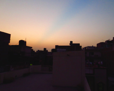 A Night on a Rooftop in Delhi